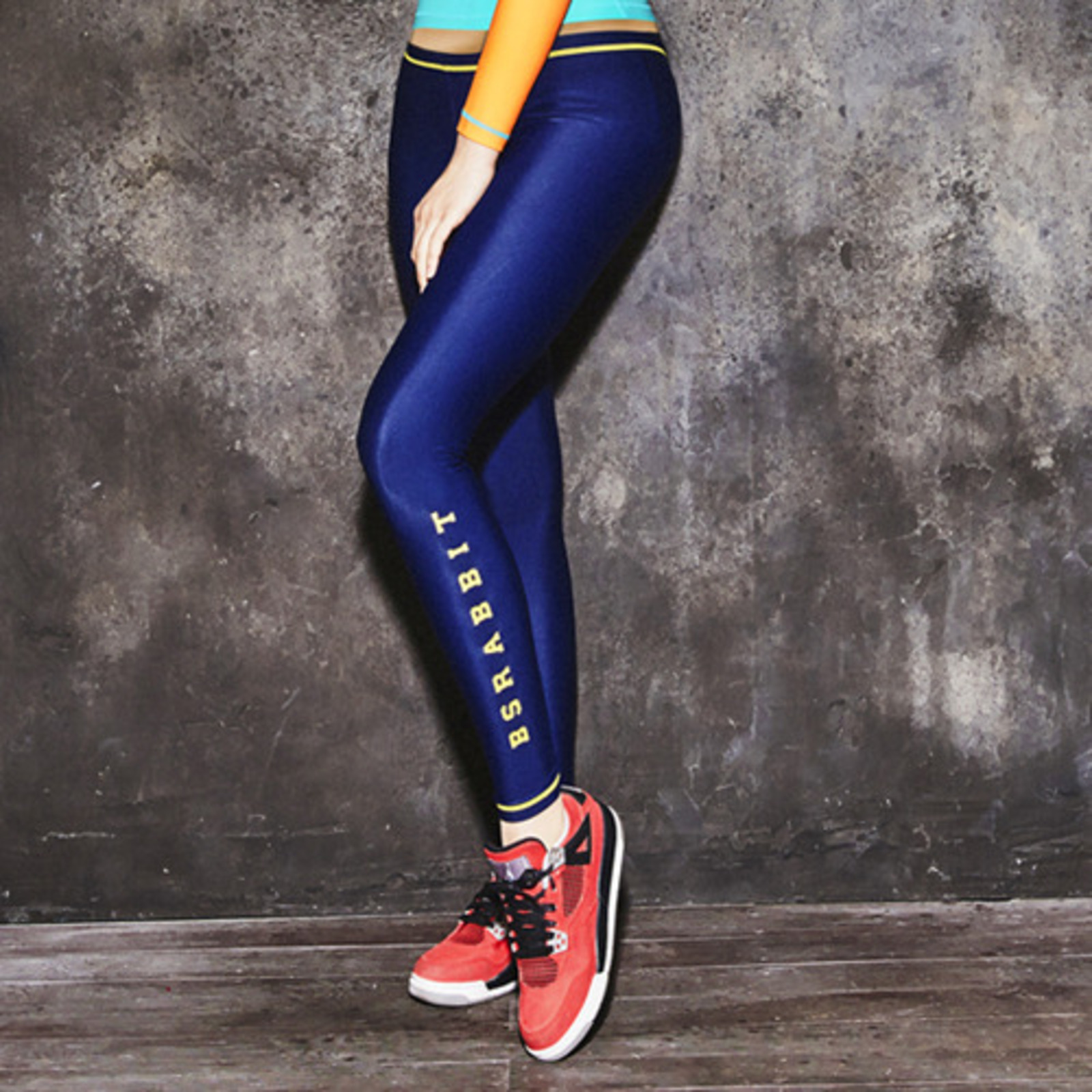 Skinny BSRABBIT WATER LEGGINGS NAVY