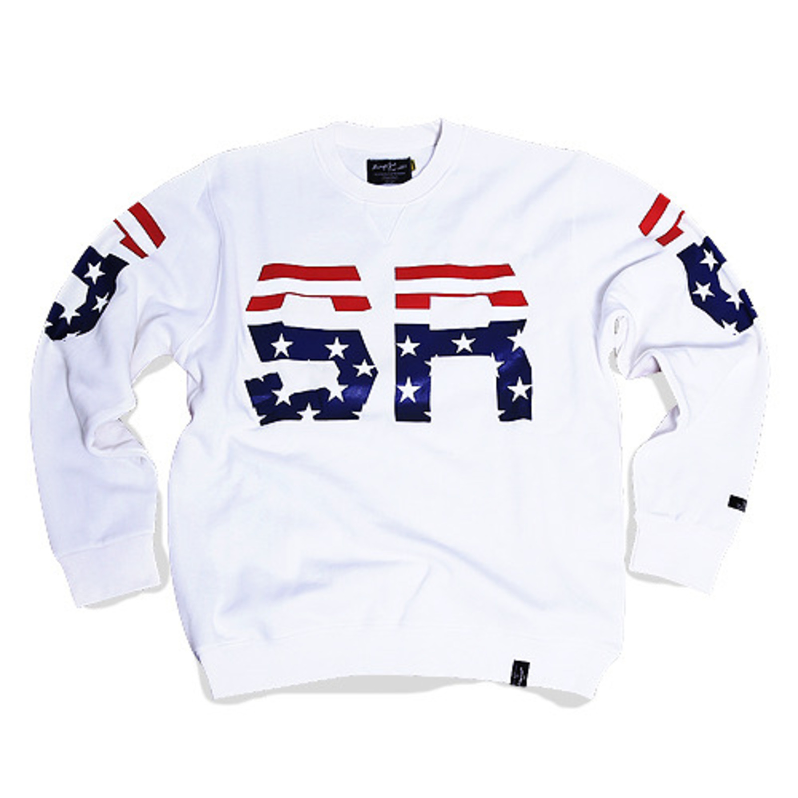 BSRB USA CREWNECK WHITE