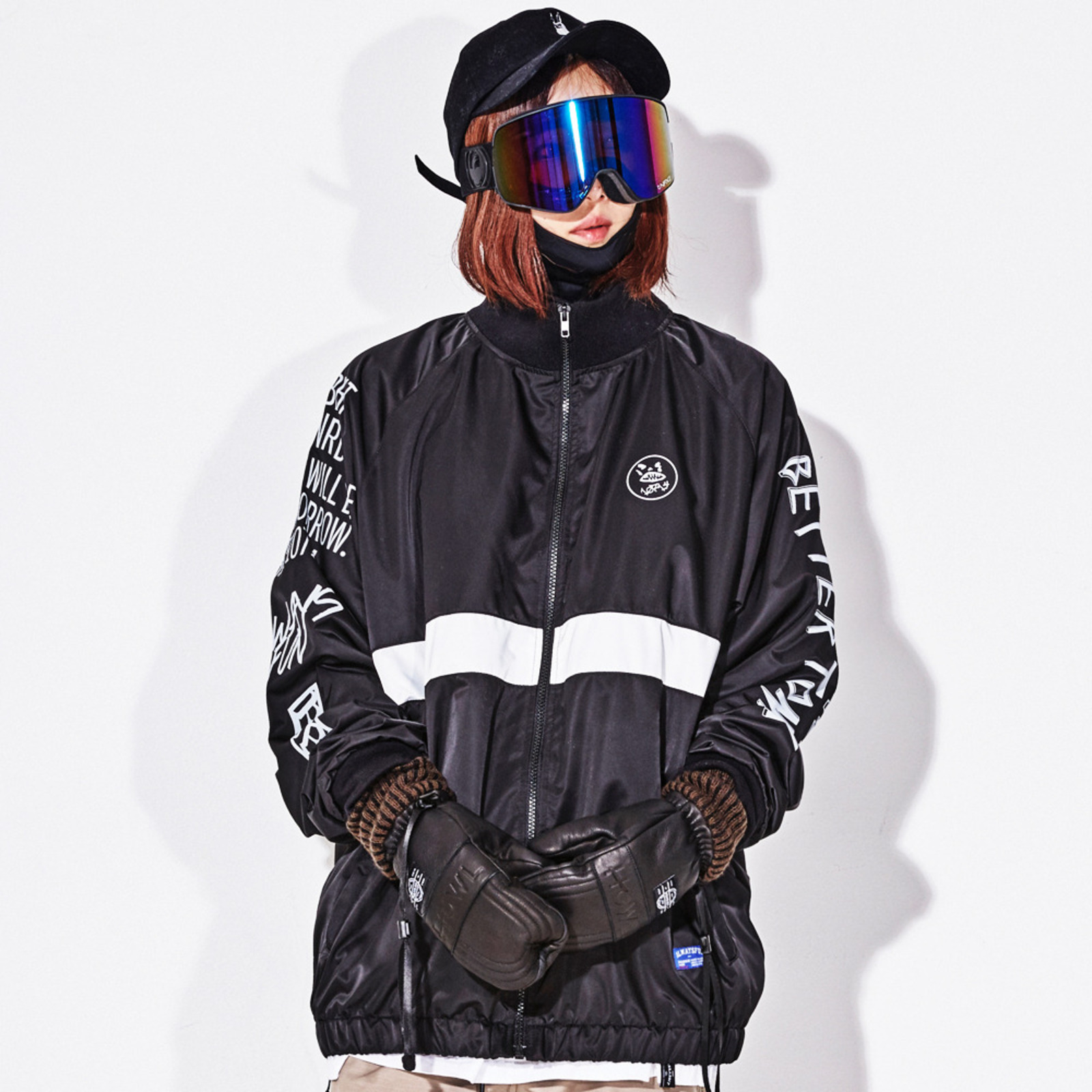 Crush track jacket_Black