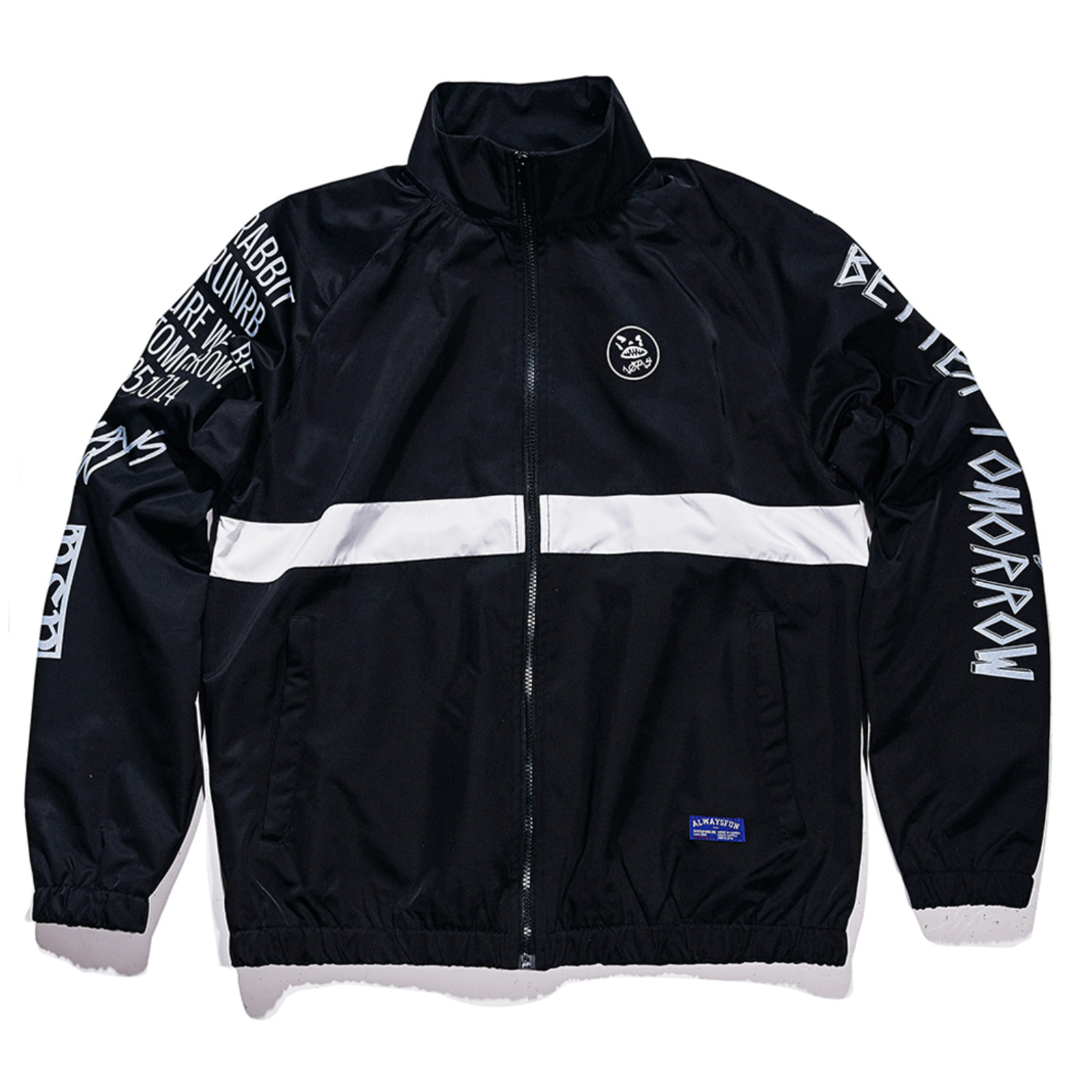 Crush track jacket Black