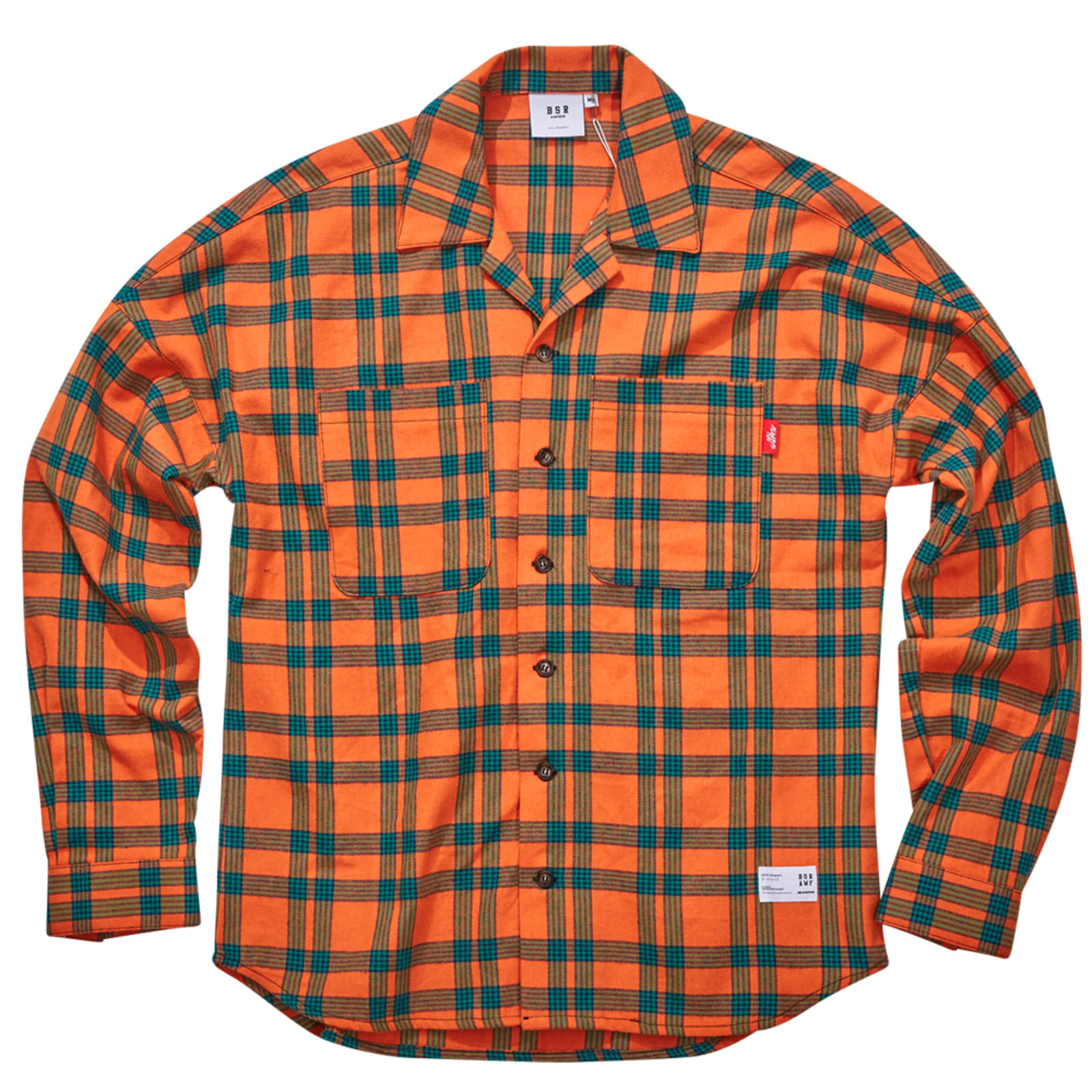 BR CHECK SHIRT ORANGE