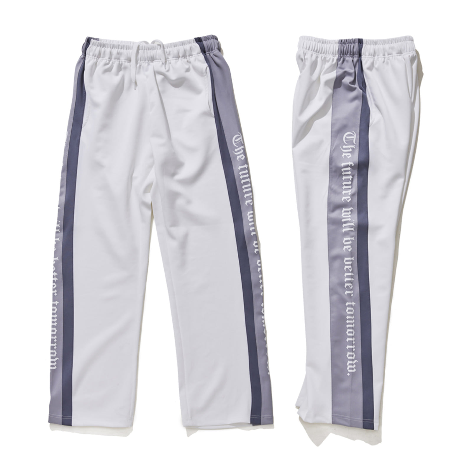 DOUBLE LINE TRACK PANTS WHITE