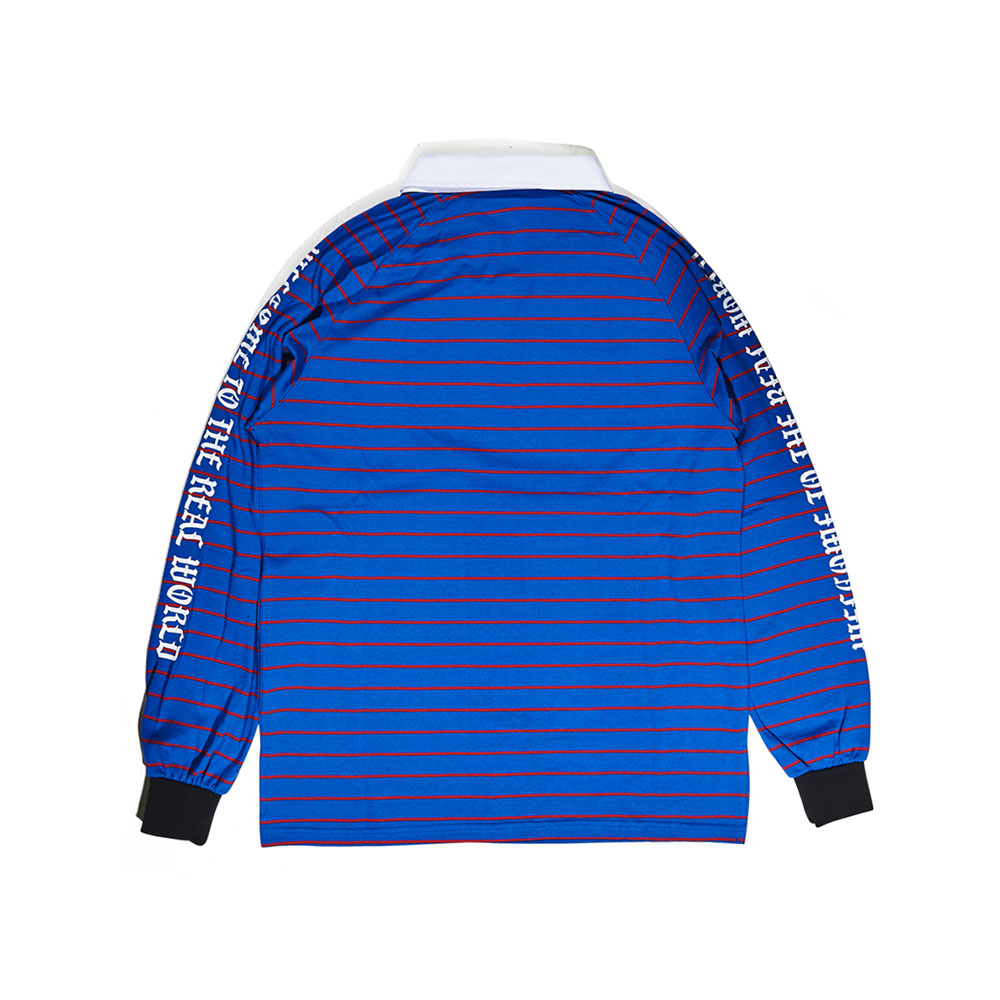 BSRABBIT WTTR LONG SLEEVE PIQUE STRIPE BLUE