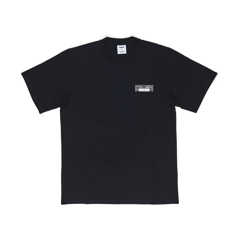 BSRABBIT WORK T-SHIRT BLACK