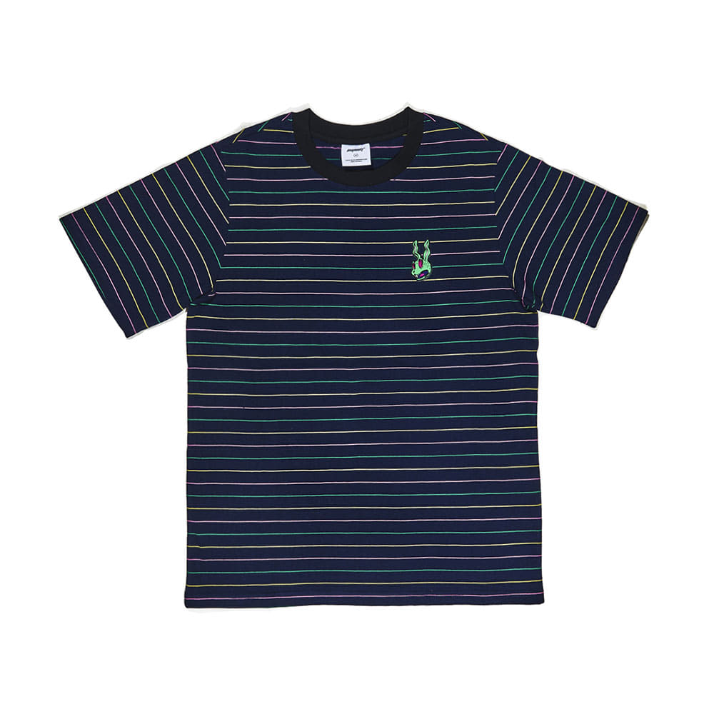 BSRABBIT INTO GR T-SHIRT STRIPE NAVY