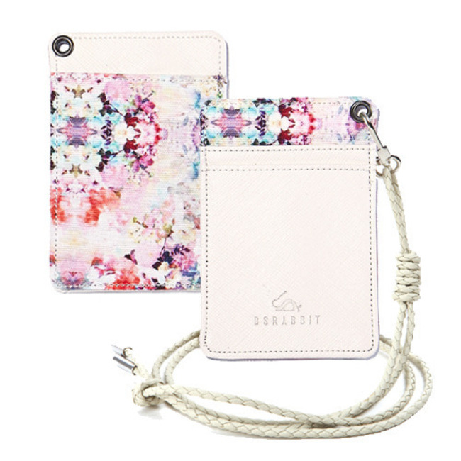 BS CARD HOLDER WHITE LOVELY FLOWER