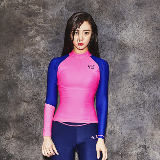 BSRB BSR85 RASH GUARD PINK/NAVY