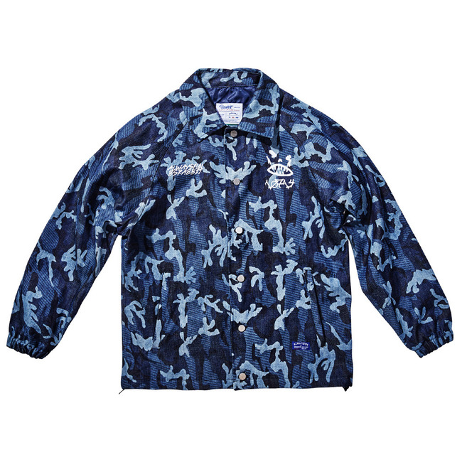BSR_Camo Denim COACH JACKET