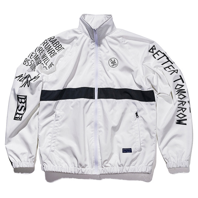Crush track jacket White