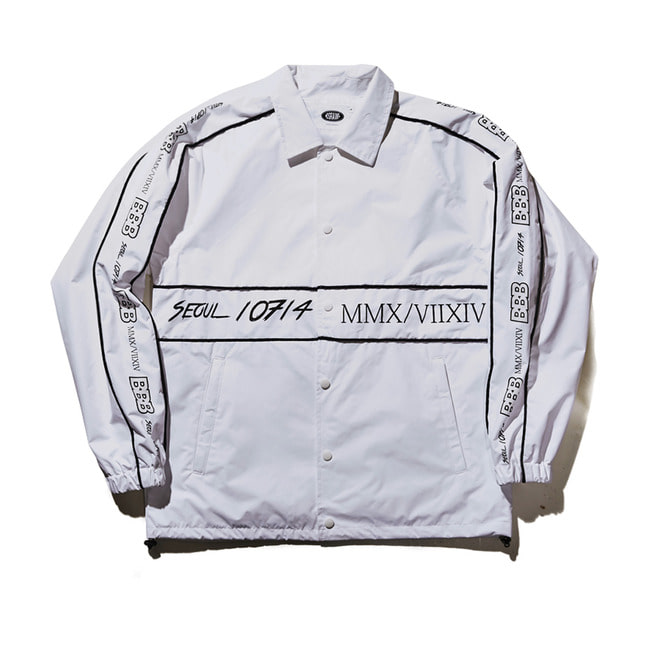 BBB COACH JACKET WHITE