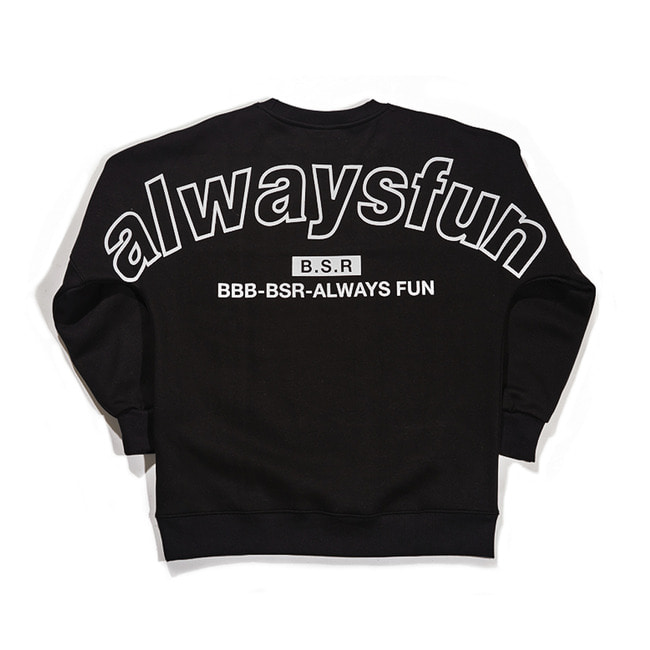 BSRALWAYS CREWNECK BLACK