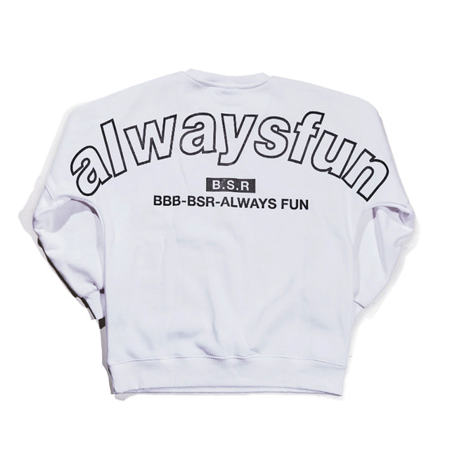 BSRALWAYS CREWNECK WHITE