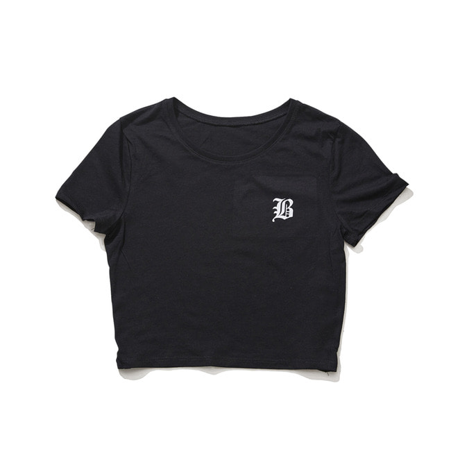 B CROP T-SHIRT BLACK [4/9 예약배송]