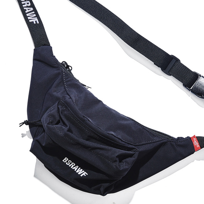 BSRAWF POCKET WAISTBAG BLACK (waterproof) [7/4 예약배송]