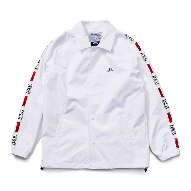 BSR COACH JACKET WHITE
