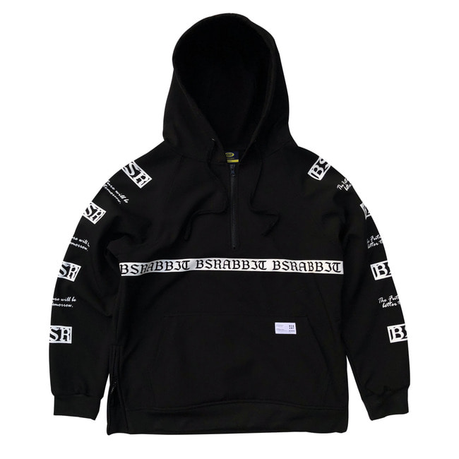 MOONRABBIT WATERPROOF HOODIE BLACK [10월10일 발송]