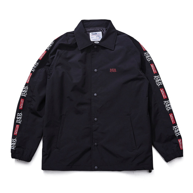 BSR COACH JACKET BLACK