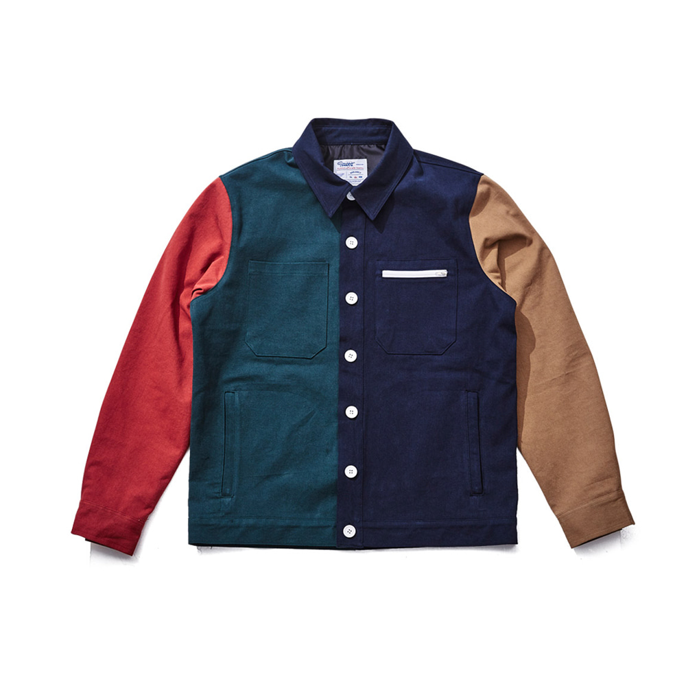 UNUSUAL CLASSIC COMBINATION JACKET NAVY