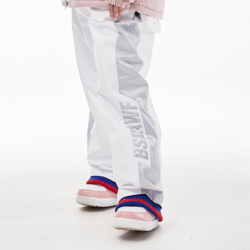 BSRAWF WATERPROOF TRACK PANTS WHITE
