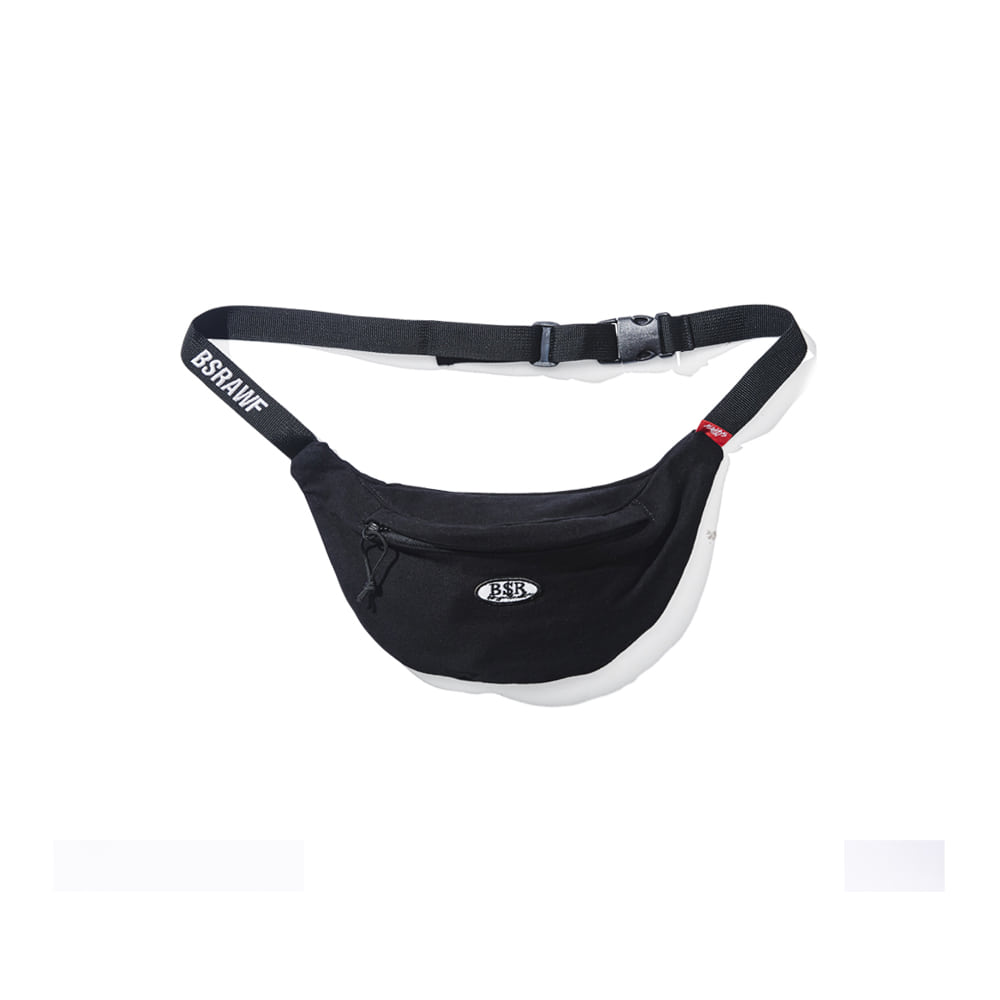 BSR COTTON WAISTBAG BLACK