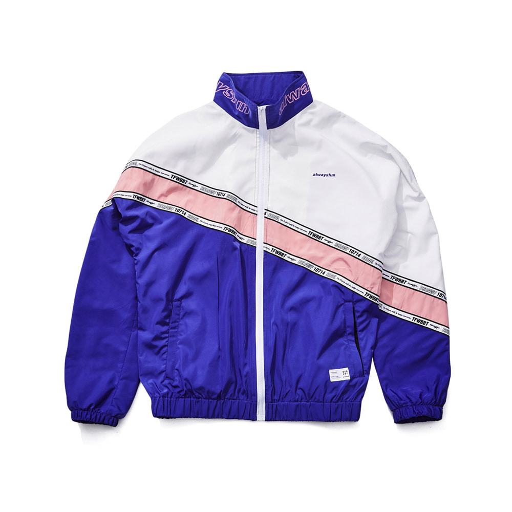 DIAGONAL LINE TRACK JACKET PURPLE