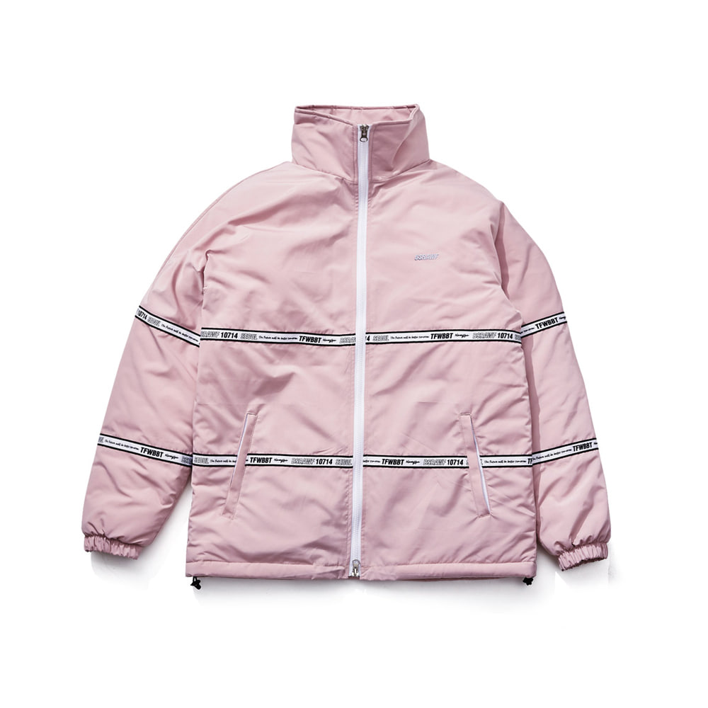TIDY HN STADIUM JACKET INDYPINK