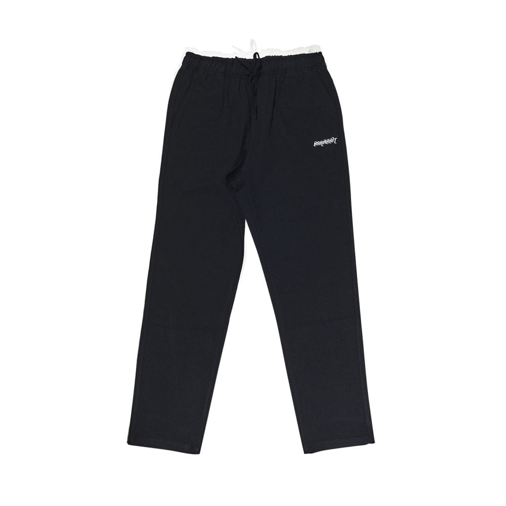 BSRABBIT CFTB COTTON TRACK PANTS BLACK