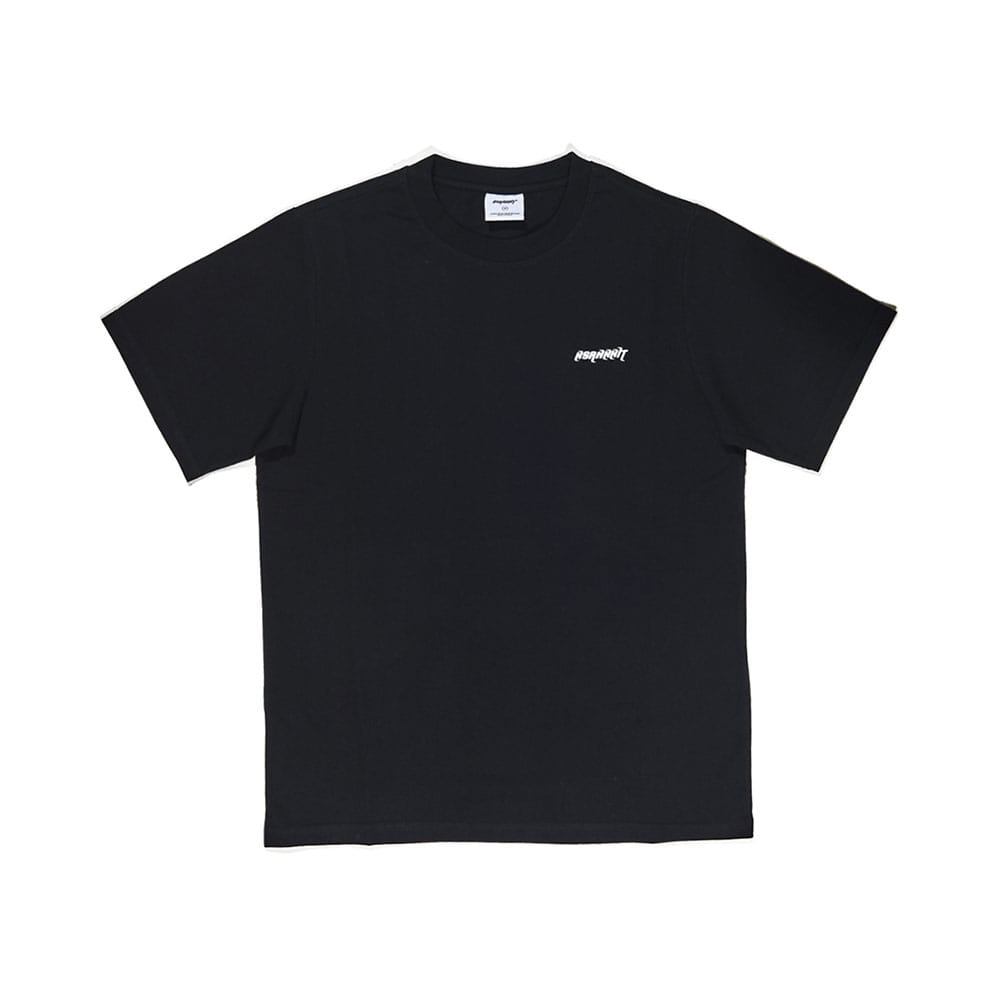 BSRABBIT LOGO T-SHIRT BLACK