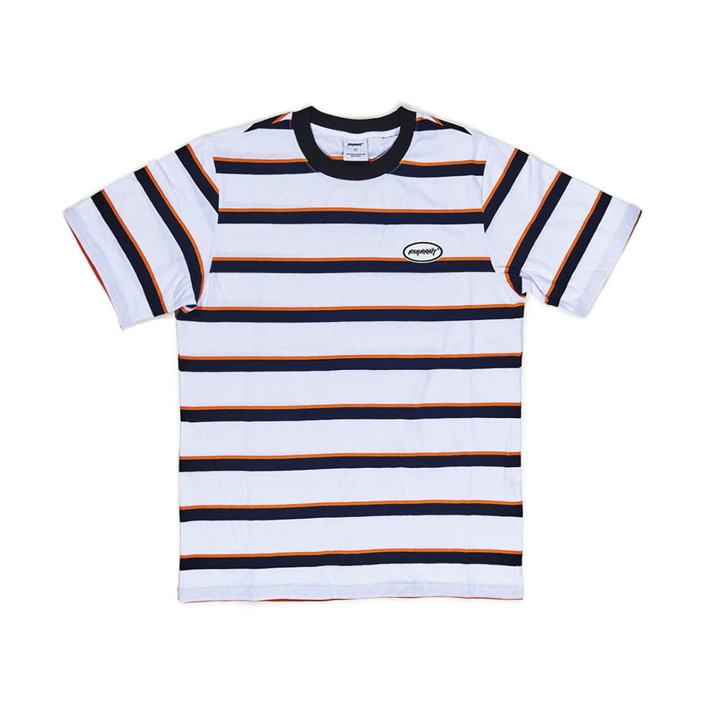 BSRABBIT THE BSR T-SHIRT STRIPE WHITE