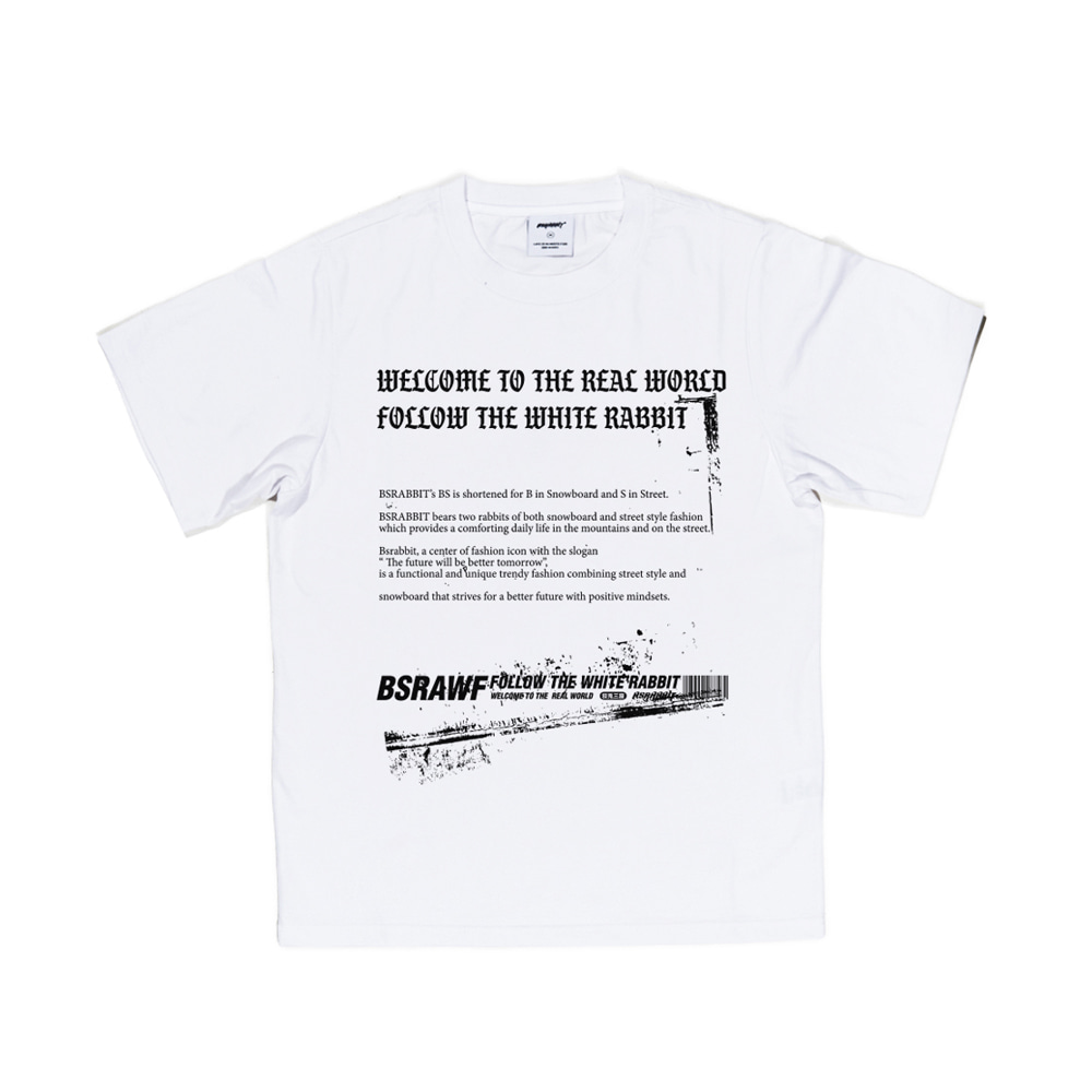 BSRABBIT WTRW T-SHIRT WHITE
