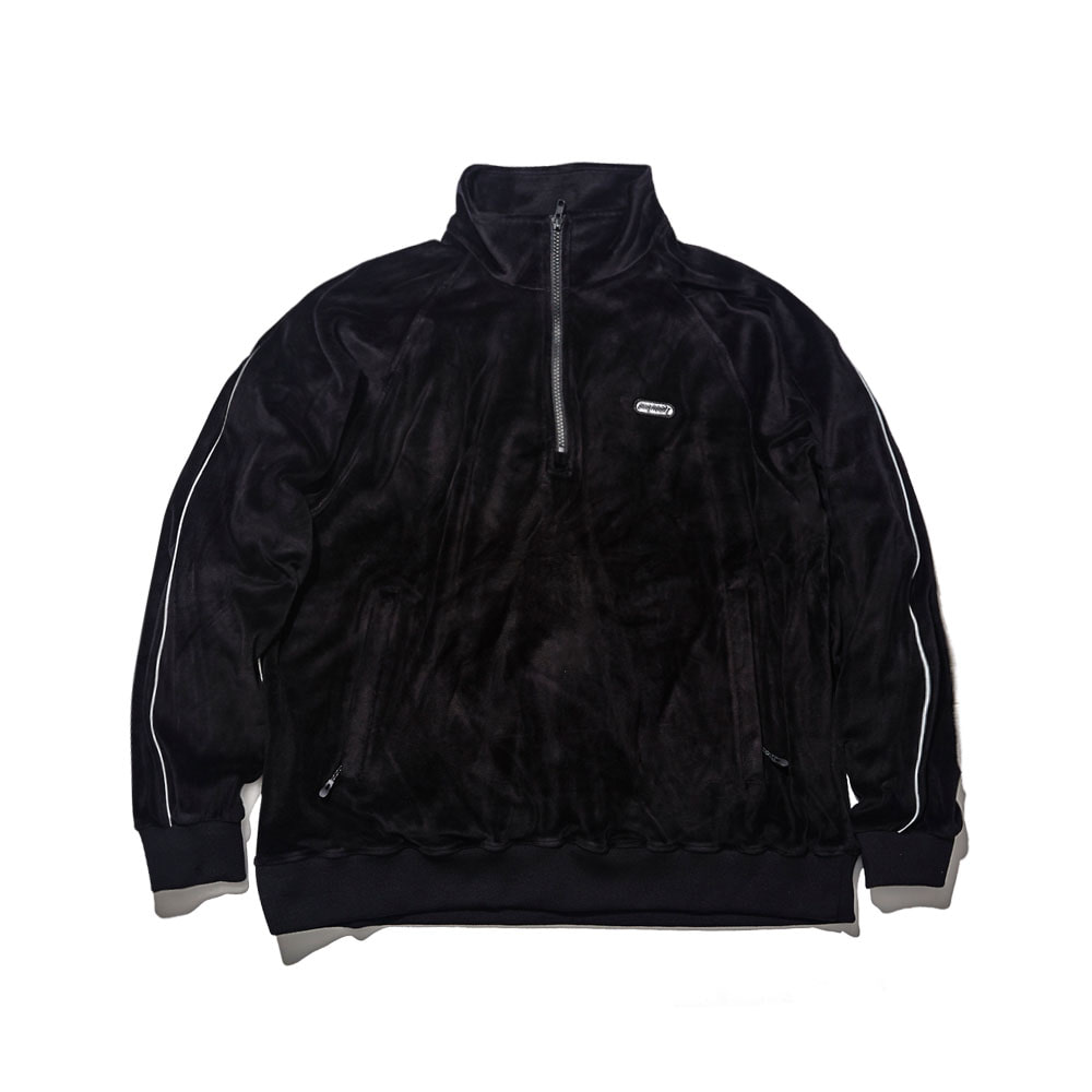 BSRABBIT BSR VELOUR TRACK TOP BLACK
