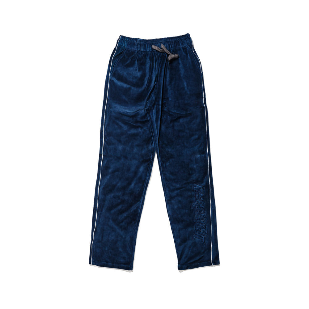 BSRABBIT BSR VELOUR TRACK PANTS NAVY