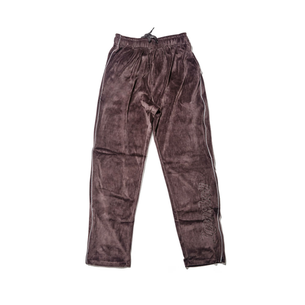 BSRABBIT BSR VELOUR TRACK PANTS CHARCOAL