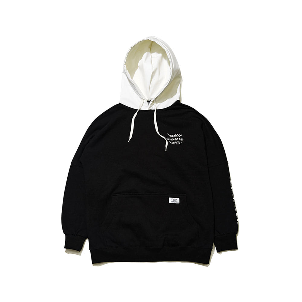 BSRABBIT WELCOME WATERPROOF HOODIE BLACK