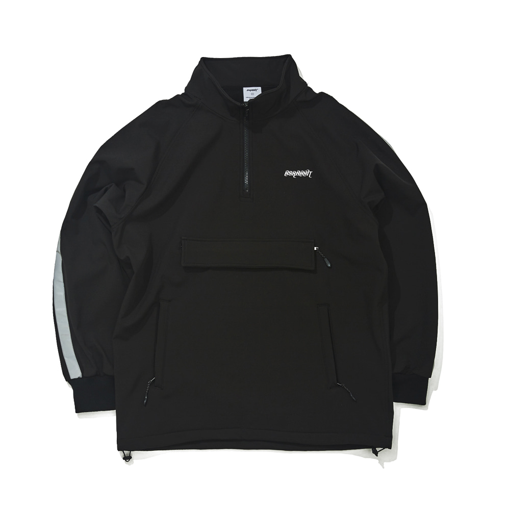 BSRABBIT WATERPROOF LOGO HN ZIPUP BLACK