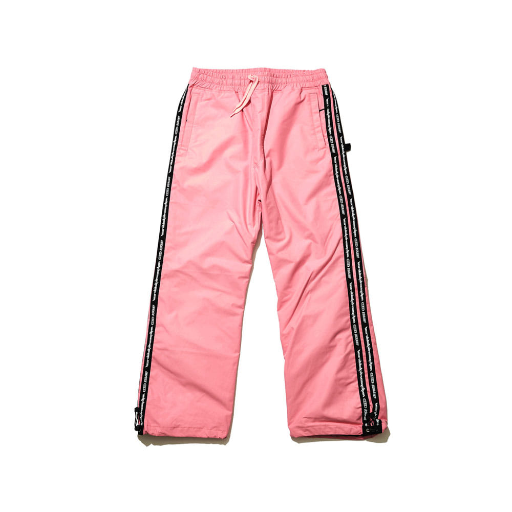 BSRABBIT DOUBLE LINE TAPE TRACK PANTS PINK